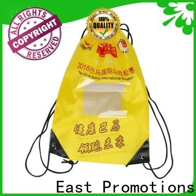 East Promotions cheap drawstring backpack with pockets company bulk production