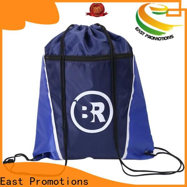 East Promotions new drawstring bag with pockets wholesale bulk buy