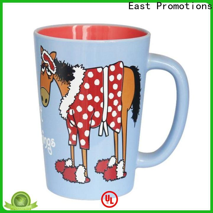 East Promotions bone china mugs from China bulk production