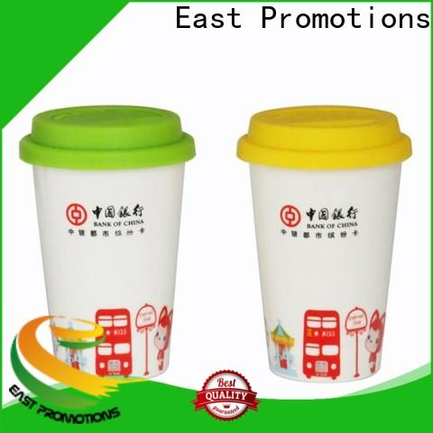 East Promotions worldwide promotional mugs manufacturer for juice