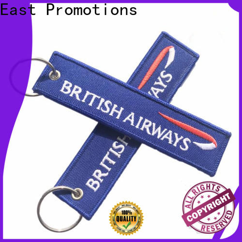 East Promotions high quality woven keyring from China for gift