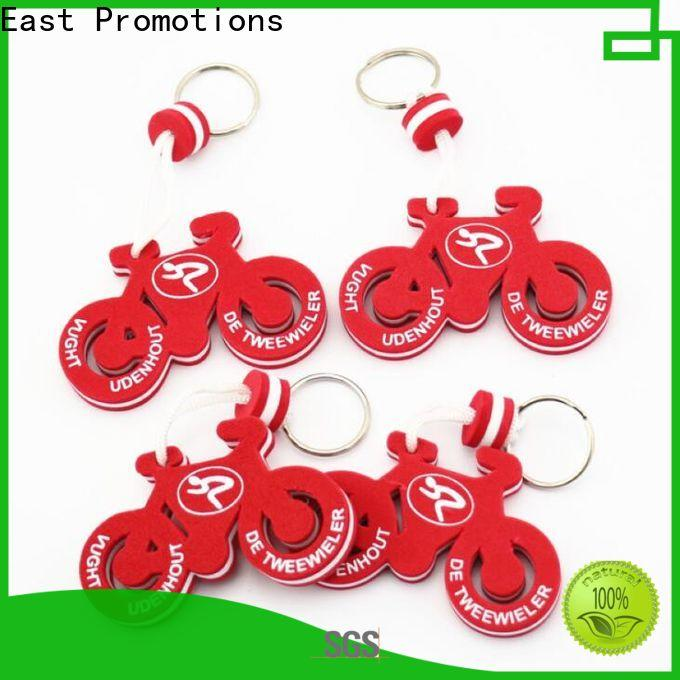 East Promotions cheap keychain logo printing from China for key