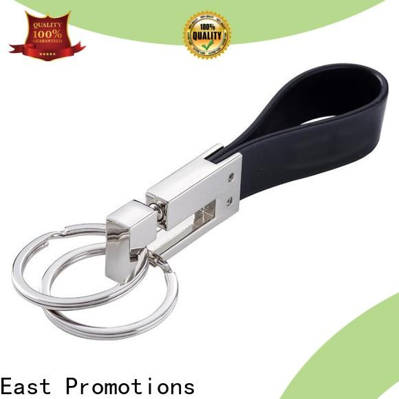 East Promotions cheap leather keychain blanks suppliers for new product promotion