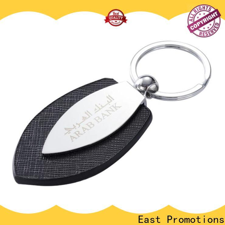 East Promotions leather coordinates keyring series bulk production