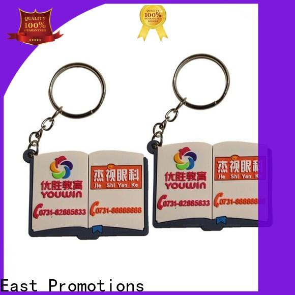 East Promotions custom soft pvc keychain directly sale for decoration