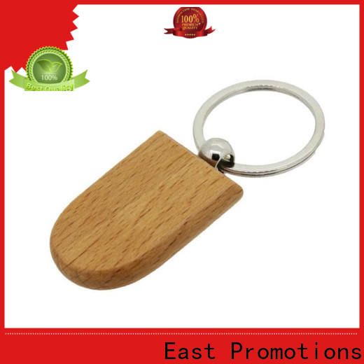 East Promotions wood carving keychain company bulk buy