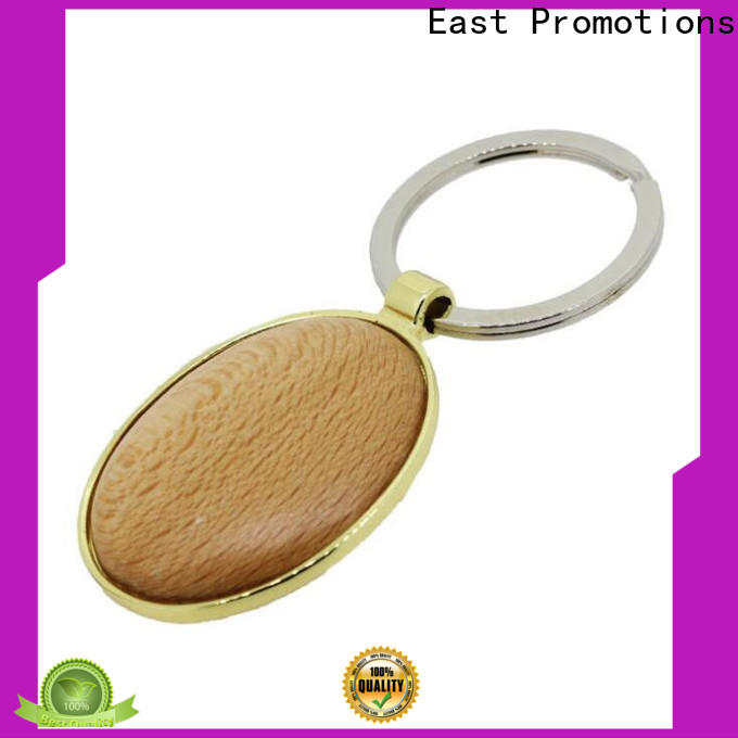 East Promotions professional wooden heart keyring factory for decoration