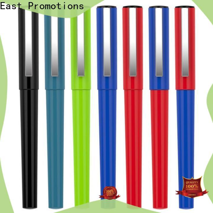 East Promotions plastic pens with logo manufacturer for office