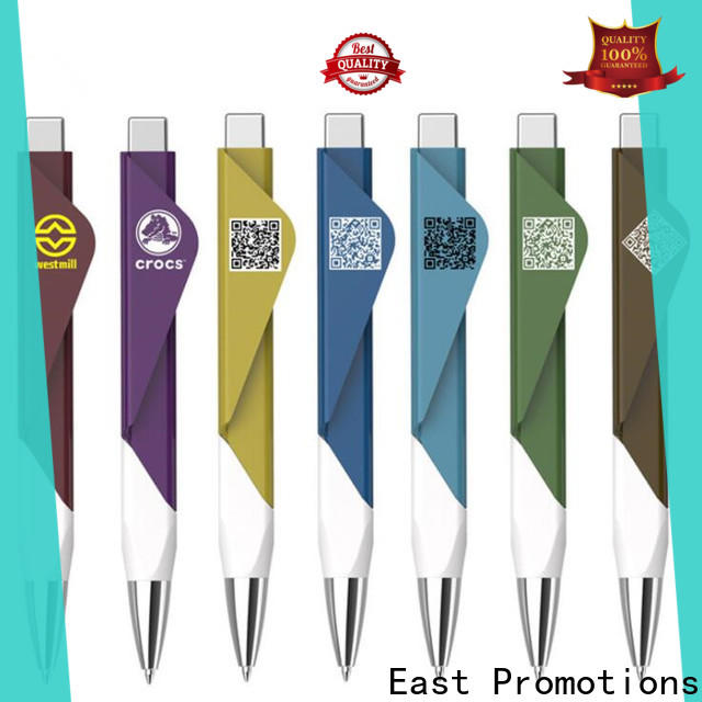 East Promotions plastic pens with logo best manufacturer for sale