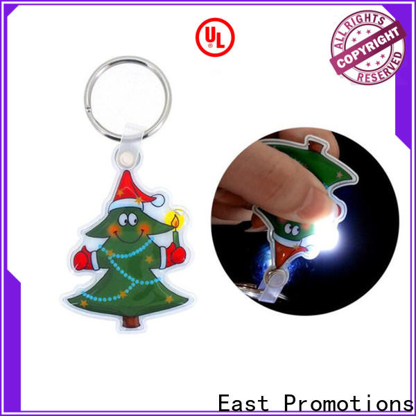 East Promotions professional custom keychain flashlights factory for gift