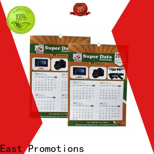 East Promotions hot-sale desk calendar 2020 supply bulk production