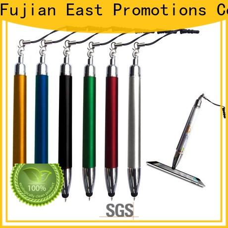 East Promotions top quality plastic pens with logo from China for school