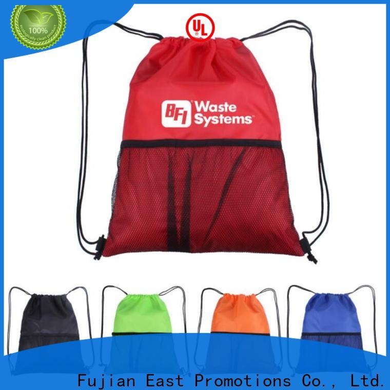 East Promotions bulk buy drawstring bags supply for trip