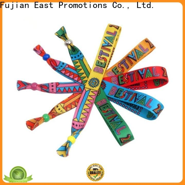 East Promotions fabric wristband design directly sale for party