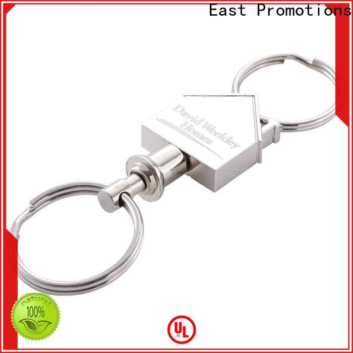 East Promotions hot selling custom logo metal keychains factory for key