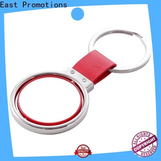 East Promotions cheap metal keychains with good price bulk production