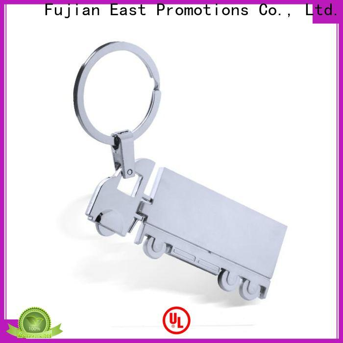 East Promotions logo metal keychain from China bulk production