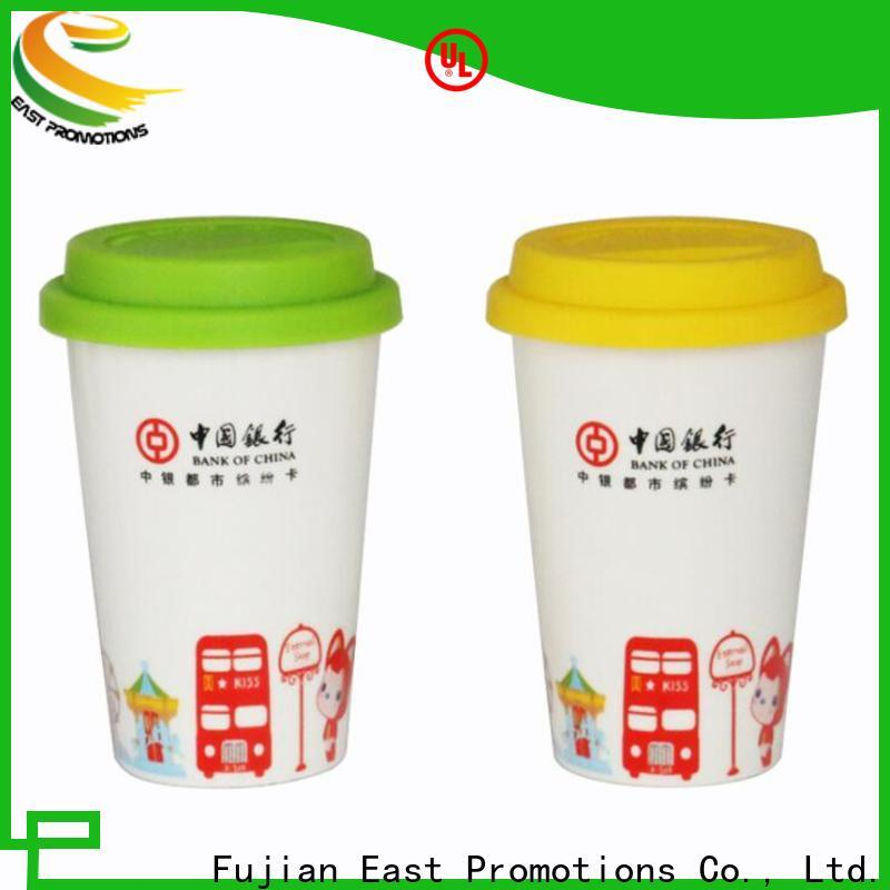 top quality personalised ceramic travel mugs from China for milk