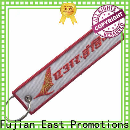 East Promotions factory price embroidered keychain company bulk production
