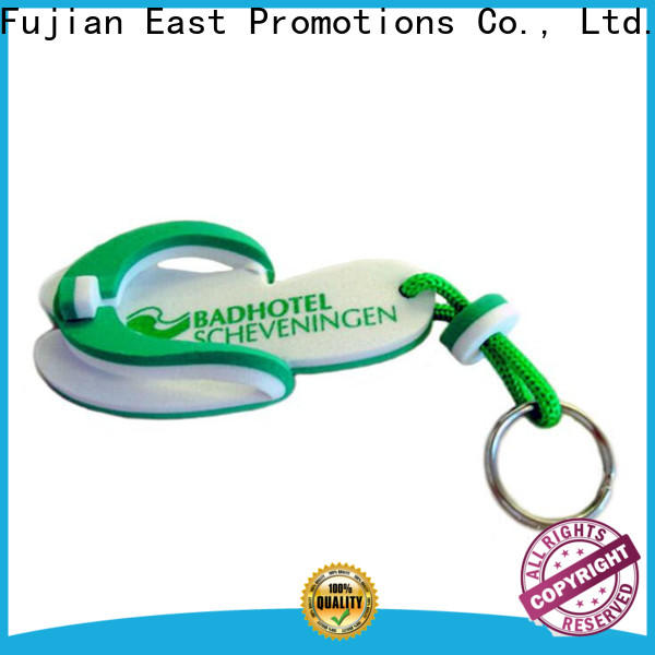 East Promotions promotional keychains with logo company bulk production