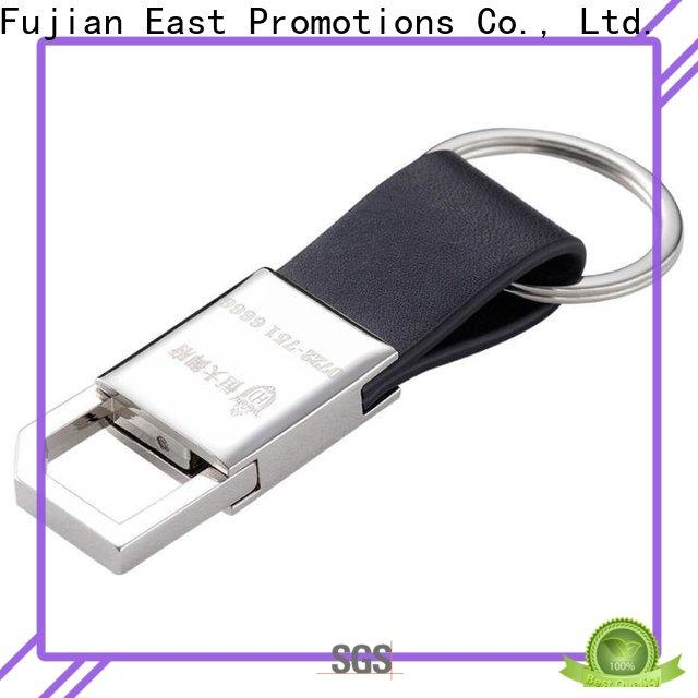 East Promotions engraved leather keychain supply for tourist attractions souvenirs gifts