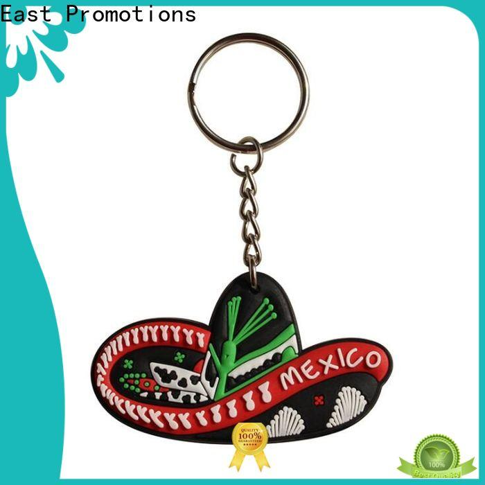East Promotions custom rubber keyrings suppliers for sale
