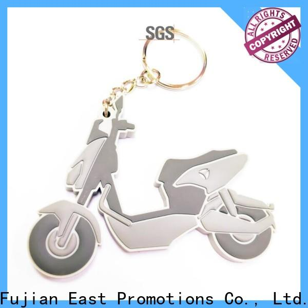East Promotions practical rubber keyring factory for decoration