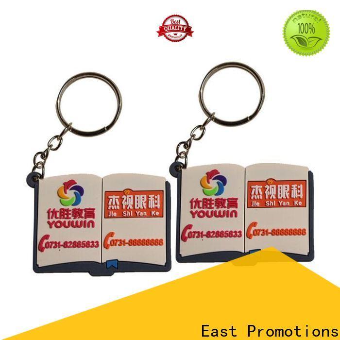 East Promotions soft pvc custom keyrings manufacturer for decoration