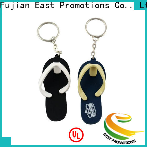 East Promotions custom made rubber keychains supply bulk buy