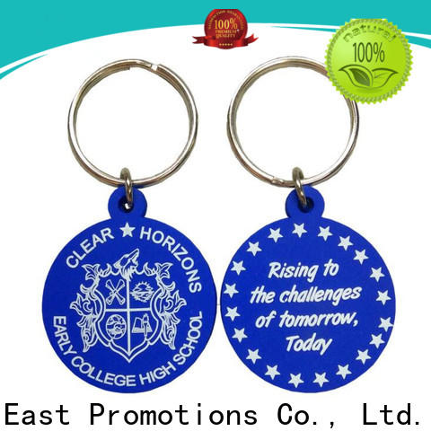 East Promotions custom rubber keychains from China for sale