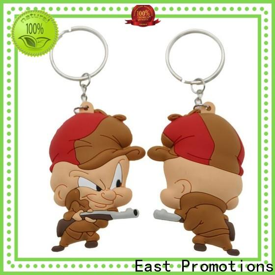 East Promotions custom shaped rubber keychains suppliers for decoration