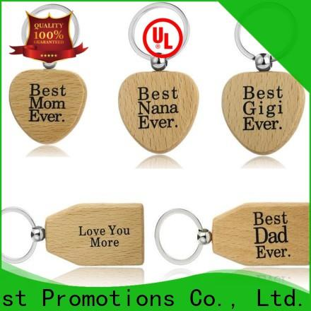 latest wooden keychain factory direct supply for decoration
