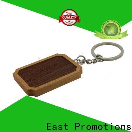 East Promotions wood slice keychain factory bulk production