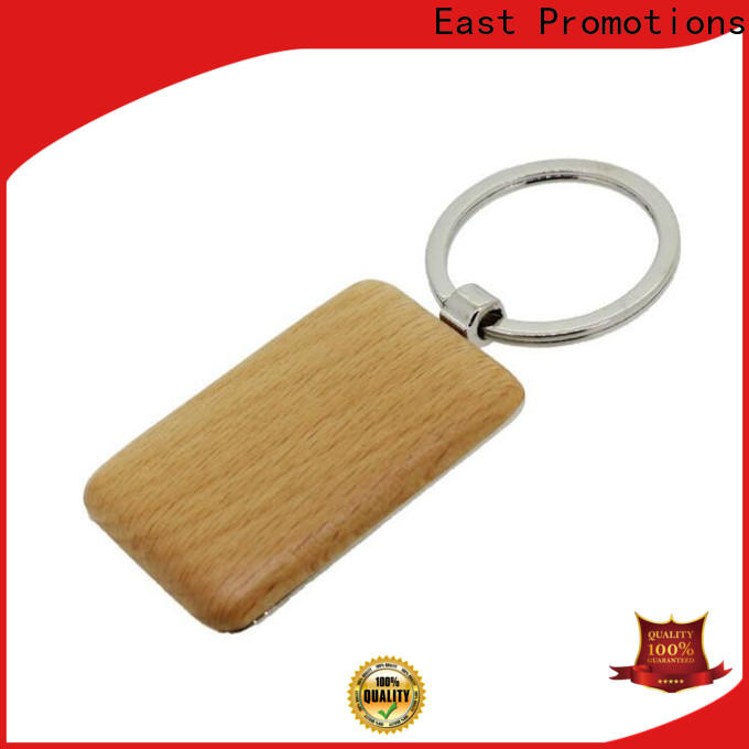East Promotions practical wood carving keychain factory direct supply for key