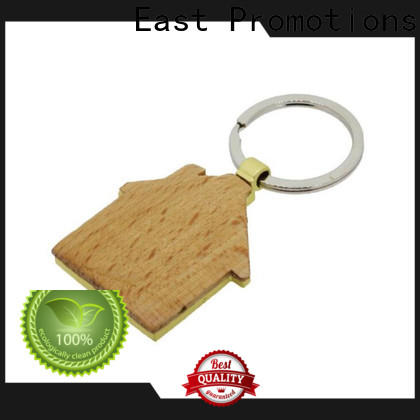 East Promotions wood carving keychain manufacturer for decoration