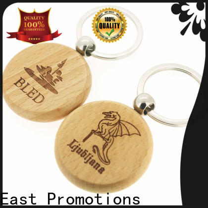 East Promotions plain wooden keyrings series bulk production