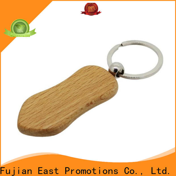 practical wood engraved keychain company for gift
