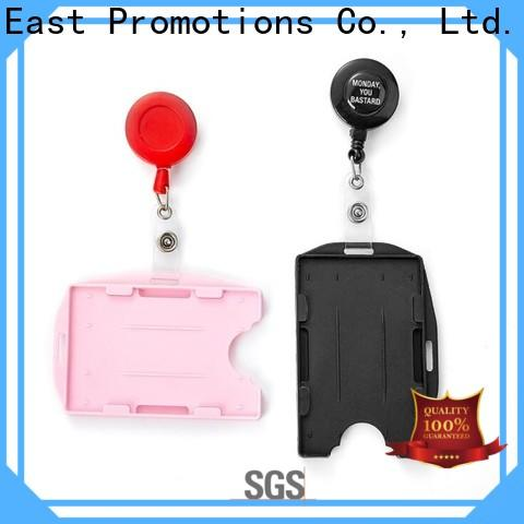 East Promotions practical lanyard badge reel combo suppliers bulk production