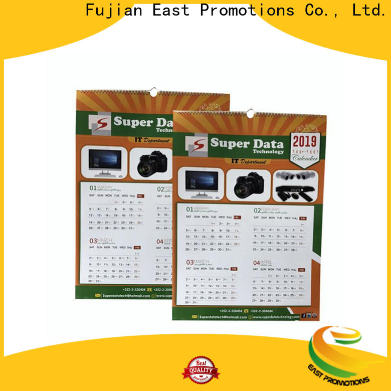 East Promotions professional promotional desk calendars factory direct supply for gift