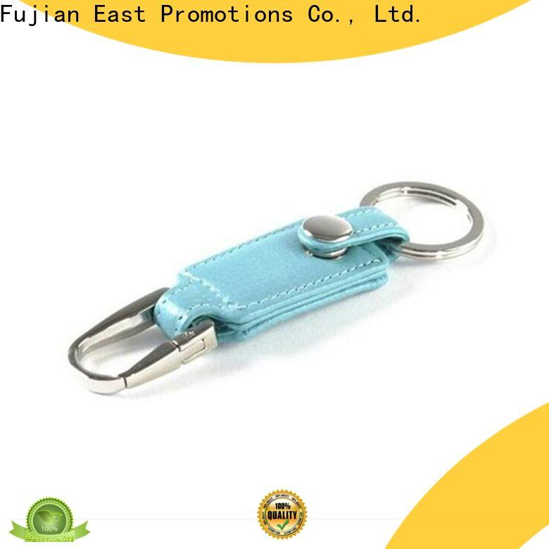 East Promotions leather keychain supplies inquire now for souvenirs of school anniversary