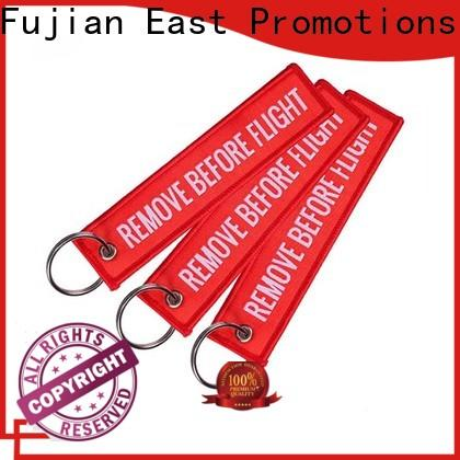 East Promotions fabric keychain factory for decoration