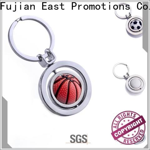 East Promotions popular custom shape metal keychains factory direct supply for gift