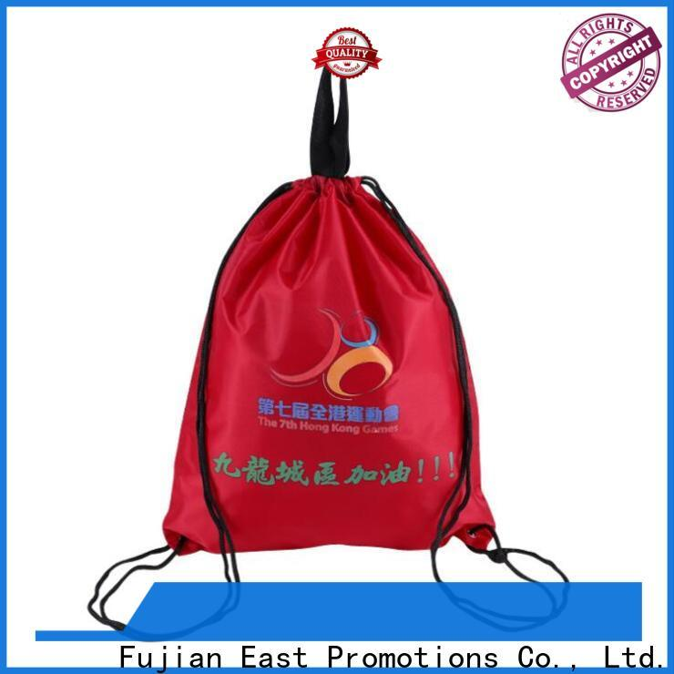 East Promotions low-cost drawstring gym bag factory for sale
