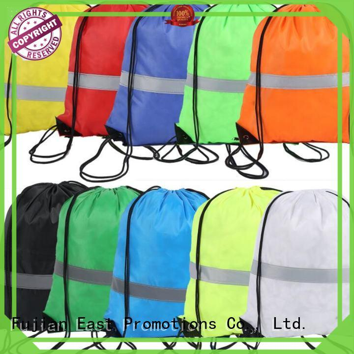 East Promotions drawstring bags with logo directly sale for trip