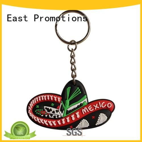 latest custom rubber keychains factory direct supply for decoration