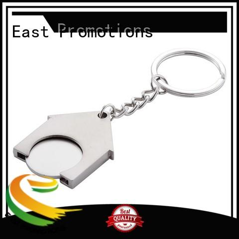 logo metal key ring disc for key East Promotions