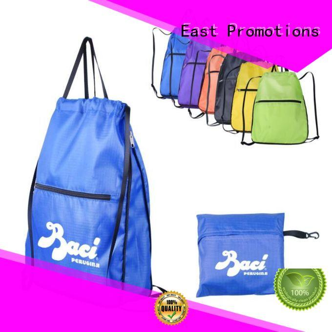 colorful non woven drawstring bag sports on sale for trip