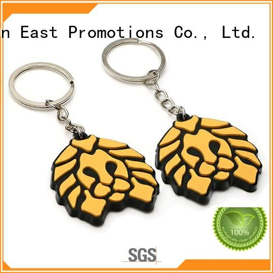 East Promotions soft rubber keychain suppliers for decoration