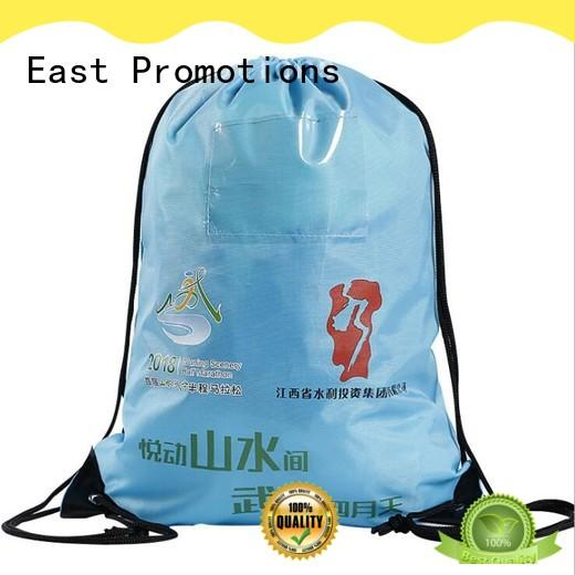 East Promotions drawstring backpack with logo supplier for gym