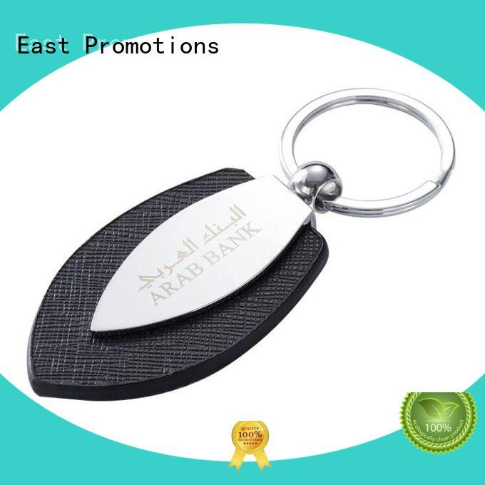 China Factory Supply PU Leather Metal Keychain